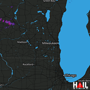 Hail Map Sparta, WI 07-13-2018