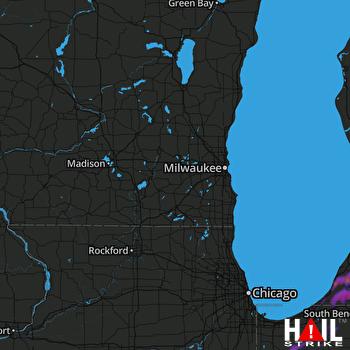 Hail Map Niles, MI 08-02-2018