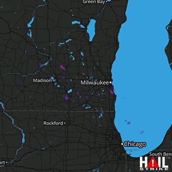 Hail Map Lake Villa, IL 08-09-2018