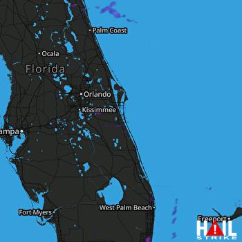 Hail Map Fort Lauderdale, FL 06-16-2021