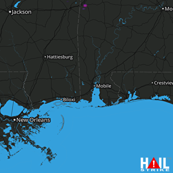 Hail Map Livingston, AL 12-27-2018