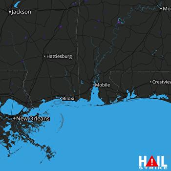 Hail Map Midway, AL 08-10-2018