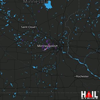 Hail Map Waconia, MN 08-24-2018