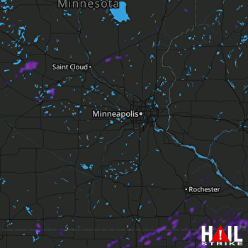 Hail Map La Crosse, WI 08-27-2018