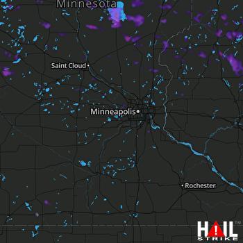 Hail Map Rosemount, MN 06-30-2019