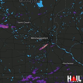 Hail Map Burnsville, MN 07-18-2019