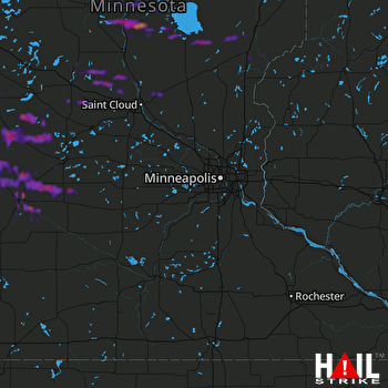 Hail Map Montevideo, MN 07-26-2019