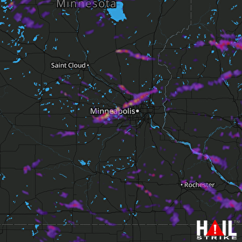 Hail Map Rochester, MN 08-05-2019