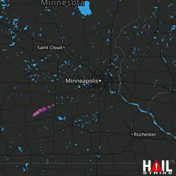 Hail Map Winthrop, MN 08-16-2019