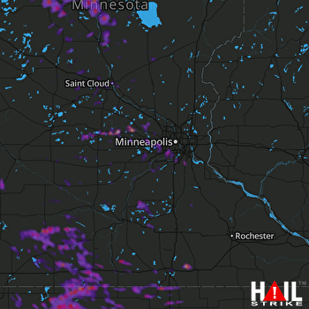 Hail Map Inver Grove Heights, MN 08-20-2019