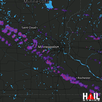 Hail Map Rochester, MN 09-03-2019
