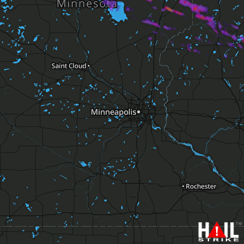 Hail Map Pequot Lakes, MN 09-05-2019