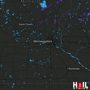 Hail Map Cambridge, MN 09-21-2019
