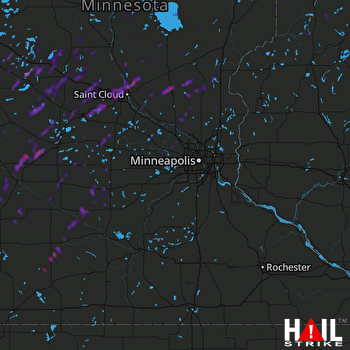 Hail Map Elk River, MN 09-30-2019