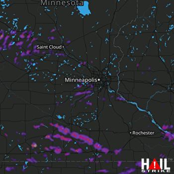 Hail Map Shakopee, MN 06-02-2020