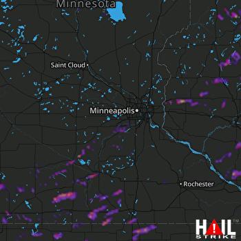Hail Map Mankato, MN 06-21-2020