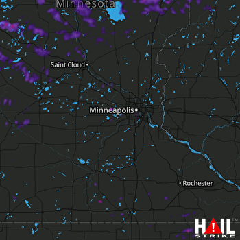 Hail Map Little Falls, MN 07-18-2020