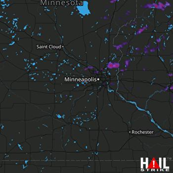 Hail Map Eau Claire, WI 07-19-2020