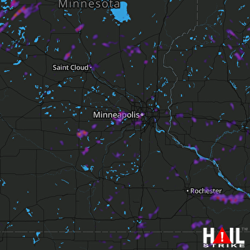 Hail Map Minneapolis, MN 08-14-2020