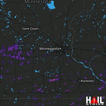 Hail Map Franklin, WI 08-28-2020