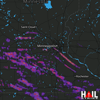 Hail Map Mankato, MN 09-06-2020