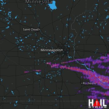Hail Map Eau Claire, WI 06-18-2021