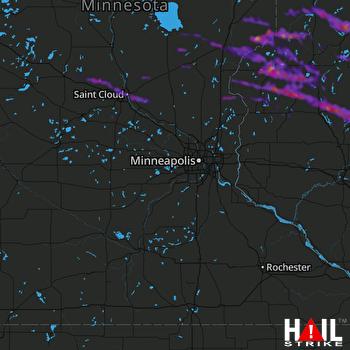 Hail Map Cloquet, MN 06-24-2021