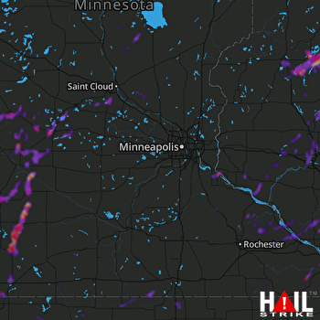 Hail Map Tracy, MN 06-29-2021