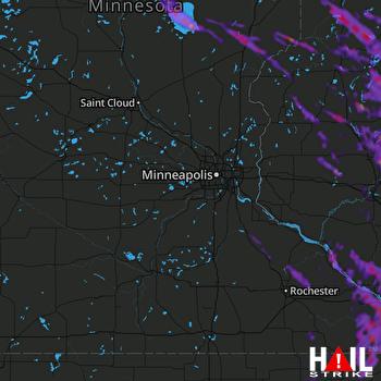 Hail Map La Crosse, WI 07-27-2021