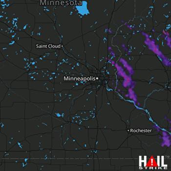 Hail Map La Crosse, WI 07-29-2021