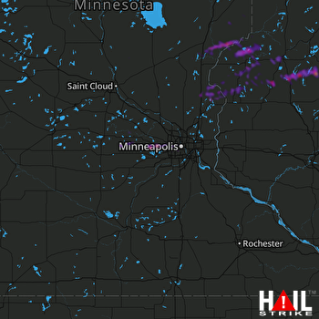 Hail Map North Branch, MN 08-11-2021