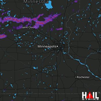 Hail Map Alexandria, MN 08-28-2021