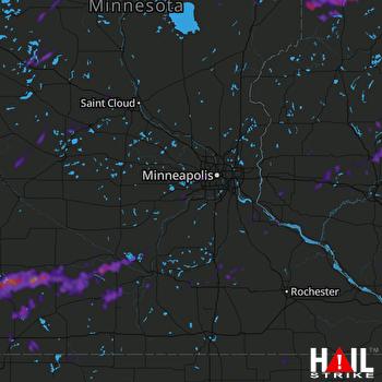Hail Map New Ulm, MN 08-29-2021