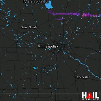 Hail Map Pine City, MN 09-07-2021