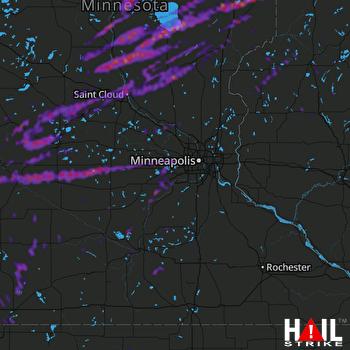Hail Map Brainerd, MN 09-17-2021