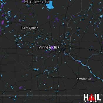 Hail Map Morris, MN 06-14-2017
