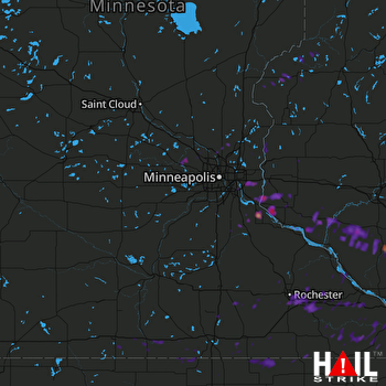 Hail Map Rochester, MN 06-28-2017