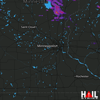 Hail Map Mora, MN 07-06-2017