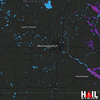 Hail Map La Crosse, WI 07-07-2017