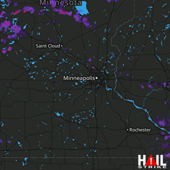Hail Map Anoka, MN 07-12-2017