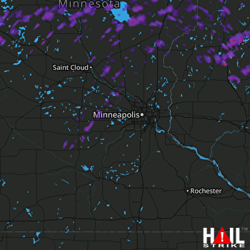 Hail Map Brainerd, MN 09-22-2017