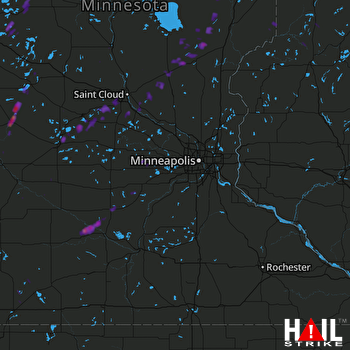 Hail Map Cold Spring, MN 09-23-2017