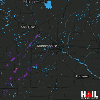 Hail Map Annandale, MN 10-02-2017