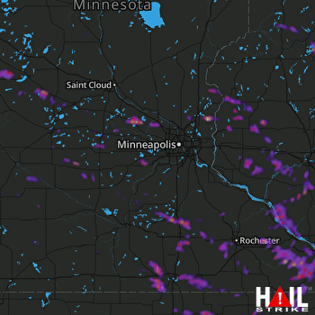 Hail Map Faribault, MN 05-25-2018