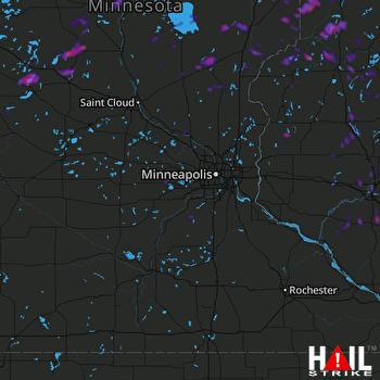 Hail Map Mora, MN 06-17-2018