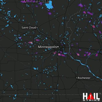 Hail Map Burnsville, MN 08-03-2018