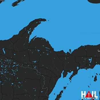 Hail Map Forestville, WI 05-25-2019