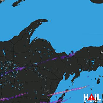 Hail Map Merrill, WI 09-27-2020