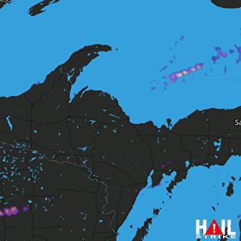 Hail Map Irma, WI 05-25-2021