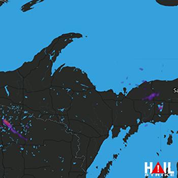 Hail Map Woodruff, WI 06-11-2021